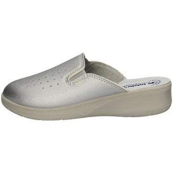 Schuhe Damen Pantoletten / Clogs Inblu I Bianchi 50 34N SILVER