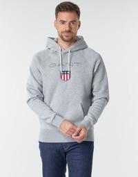 Kleidung Herren Sweatshirts Gant GANT SHIEL HOODIE Grau