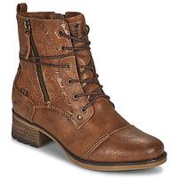 Schuhe Damen Boots Mustang 1229508 Cognac
