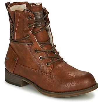 Schuhe Damen Boots Mustang 1139630 Cognac