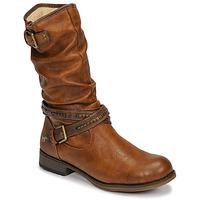 Schuhe Damen Klassische Stiefel Mustang 1139624 Cognac