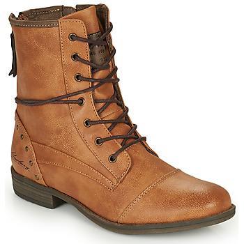 Schuhe Damen Boots Mustang 1157508 Camel
