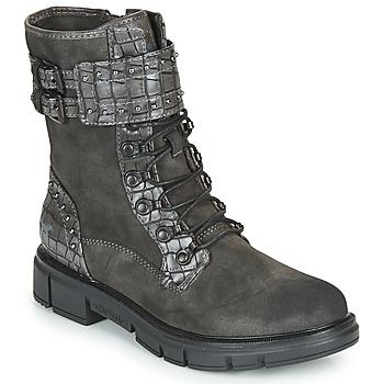 Schuhe Damen Boots Mustang 1333507 Grau