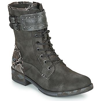 Schuhe Damen Boots Mustang 1332506 Grau