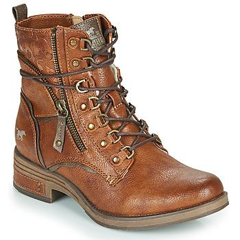 Schuhe Damen Boots Mustang 1293601 Cognac