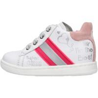 Schuhe Jungen Sneaker Falcotto - Polacchino bianco ATLEY-1N04 BIANCO