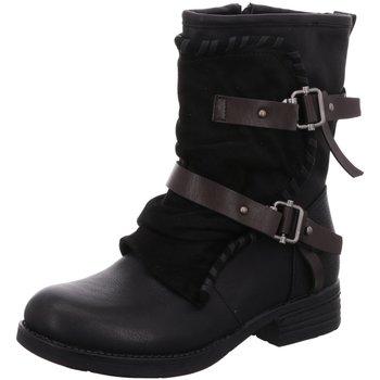 Schuhe Damen Klassische Stiefel Laufsteg München Stiefeletten HW180206 BLACK schwarz