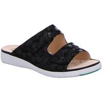 Schuhe Damen Pantoffel Ganter Pantoletten Gina 9-200153-0100 9-200153-0100 schwarz