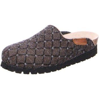 Schuhe Damen Hausschuhe Mephisto thea dark taup strass beige