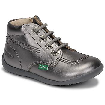 Schuhe Mädchen Boots Kickers BILLYZIP-2 Silbern