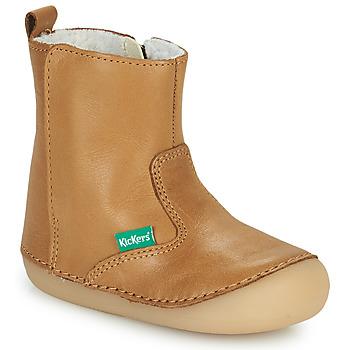 Schuhe Mädchen Boots Kickers SOCOOL CHO Camel
