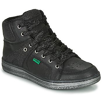Schuhe Mädchen Sneaker High Kickers LOWELL Schwarz