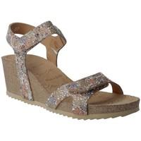 Schuhe Damen Sandalen / Sandaletten Calzados Penelope Penelope Collection 5754 Damen Keilsandalen Beige