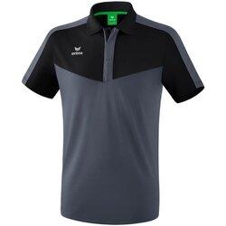 Kleidung Herren Polohemden Erima Sport Squad Poloshirt Schwarz Grau 1112014 Other