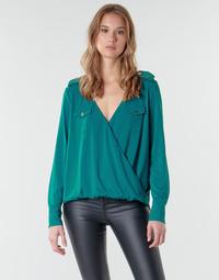 Kleidung Damen Tops / Blusen Marciano SALLY CREPE TOP Grün