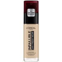 Beauty Damen Make-up & Foundation  L'oréal Infaillible 24h Fresh Wear Foundation 130-beige Peau