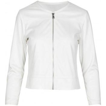 Kleidung Damen Jacken / Blazers Anonyme Ginko-Corinne-Jacke Weiss  ANYP130SJ163 WHITE blanc