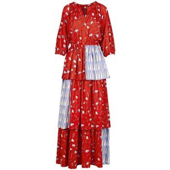 Kleidung Damen Maxikleider Anonyme Deborah-Blatt-Kleid orange  ANYA220SD029 ORANGE orange