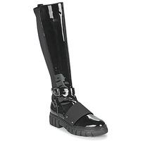 Schuhe Damen Boots Philippe Morvan DARMY V1 VERNIS NOIR Schwarz