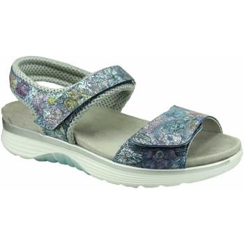 Schuhe Damen Sandalen / Sandaletten Aco Sandaletten jeans-silber-multifarben 950/8935 1412 blue Flox blau