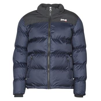 Kleidung Daunenjacken Schott UTAH Marine / Schwarz