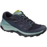 Schuhe Damen Fitness / Training Salomon Sportschuhe Outline GTX Outdoorschuhe L40618800 blau