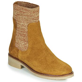 Schuhe Damen Boots Bensimon BOOTS CHAUSSETTE Braun