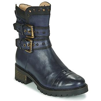 Schuhe Damen Low Boots Casta MERITA Blau / Schwarz