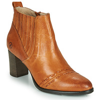 Schuhe Damen Low Boots Casta SANTA Cognac