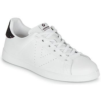Schuhe Damen Sneaker Low Victoria TENIS PIEL Weiss / Bordeaux