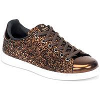 Schuhe Damen Sneaker Low Victoria TENIS GLITTER Bronze