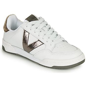 Schuhe Damen Sneaker Low Victoria CRONO PIEL Weiss / Bronze