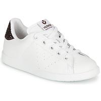 Schuhe Mädchen Sneaker Low Victoria TENIS PIEL Weiss / Bordeaux