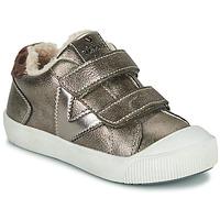 Schuhe Mädchen Sneaker Low Victoria HUELLAS  TIRAS Silbern