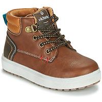 Schuhe Jungen Sneaker Low Victoria PUZZLE  PIEL Braun