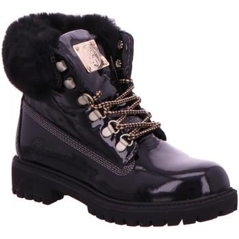 Schuhe Damen Boots Darkwood Stiefeletten 7093 01RU schwarz