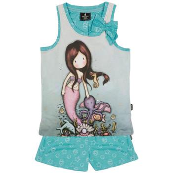 Kleidung Mädchen Pyjamas/ Nachthemden Admas Pyjamahose Tank-Top So Nice To Sea You Santoro blau Blau