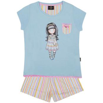 Kleidung Mädchen Pyjamas/ Nachthemden Admas Pyjamahose T-Shirt And All Things Nizza Santoro blau Blau