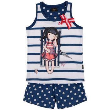 Kleidung Mädchen Pyjamas/ Nachthemden Admas Pyjama-Shorts Tank-Top Sommertage Santoro marine Blau Marine