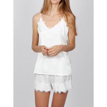 Kleidung Damen Pyjamas/ Nachthemden Admas Pyjama Weichkrepp weiß Weiß
