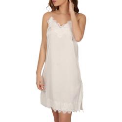 Kleidung Damen Pyjamas/ Nachthemden Admas Babydoll Weichkrepp weiß Weiß