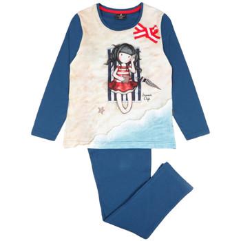 Kleidung Mädchen Pyjamas/ Nachthemden Admas Pyjama-Hose mit langen Ärmeln Sommertage Santoro Blau Marine