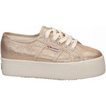 Schuhe Damen Sneaker Low Superga 2790-LAMEW 941-rose-platinum
