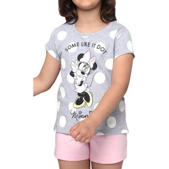 Kleidung Damen Pyjamas/ Nachthemden Admas Pyjamashorts T-Shirt Minnie Dots Disney grau Hellgrau