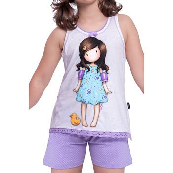 Kleidung Damen Pyjamas/ Nachthemden Admas Pyjama-Kurz-T-Shirt Little Duck Santoro elfenbein Gelb