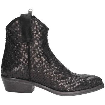 Schuhe Damen Boots Metisse TEX201 Texano Frau schwarz schwarz