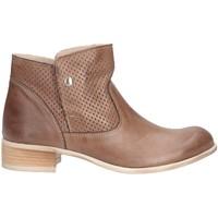 Schuhe Damen Ankle Boots Made In Italia 0427 Biker Frau Taupe Taupe