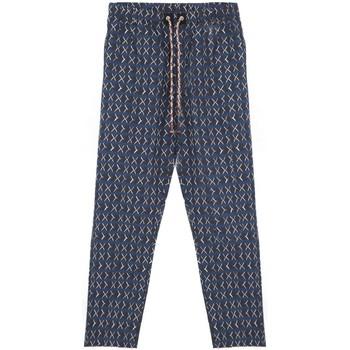 Kleidung Herren Pyjamas/ Nachthemden Madson   Pantalone Stampato, Blu   MDS_DU20038 P10 bleu
