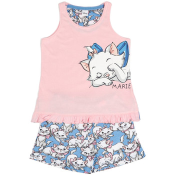 Kleidung Mädchen Pyjamas/ Nachthemden Admas Pyjama-Shorts Tanktop Lazy Marie Disney rosa Zartrosa