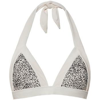 Kleidung Damen Bikini Ober- und Unterteile Beachlife Sprinkles  Triangle-Badeanzug Top Perlschwarz-weiß